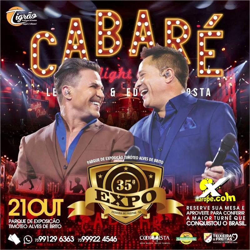 Show Cabaré com Leonardo e Eduardo Costa -  - Teixeira de Freitas - BA