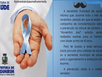 Secretaria de Saúde de Itagimirim realiza campanha de conscientização contra o câncer de próstata