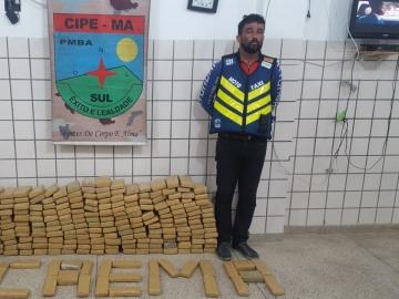 Homem é preso em flagrante com 200 kg de maconha em Teixeira de Freitas