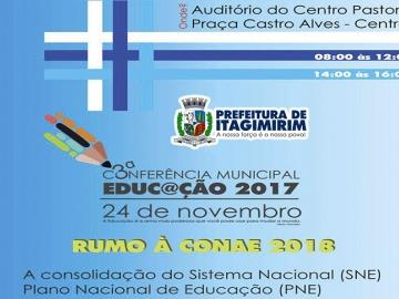 Secretaria de Educação realizará a 3ª Conferência Municipal de Educação na próxima sexta-feira (24)