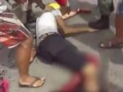 Policial militar atira em manifestante durante protesto contra violência; veja