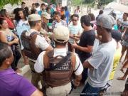 População faz manifestação e pede mais segurança em Itagimirim