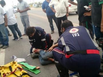Acidente deixa motociclista gravemente ferido na BR-101