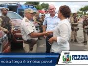 Prefeita de Itagimirim recebe viatura da Polícia Civil