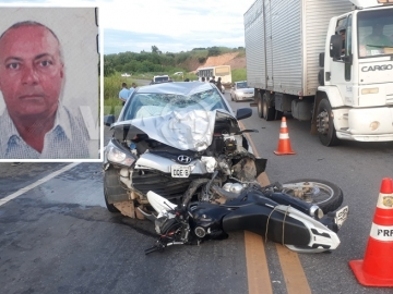 Motociclista morre em colisão entre carro em moto na BR-101