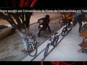 Câmara de segurança flagra assalto em posto de Teixeira de Freitas