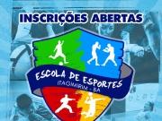 Departamento de Esportes de Itagimirim abre inscrições para a Escola De Esportes