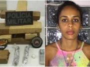 Mulher é presa com mais de 13 quilos de droga em Posto da Mata