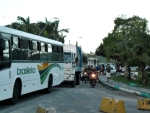 Motoristas de transporte alternativo paralisaram  centro de Porto Seguro