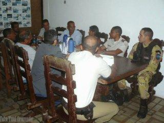 Reunião entre a secretaria de segurança e os Comandantes das polícias, para a organização da força tarefa do evento