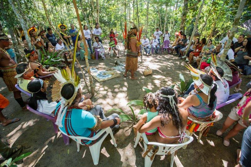 A comunidade desenvolve trabalhos de etnoturismo sustentável, de preservação do meio ambiente e atividades culturais, gerenciadas pelo Instituto Pataxó de Etnoturismo (Divulgação)