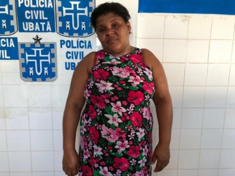 Luciene foi presa em flagrante. (Foto do site Ubatã Notícias)