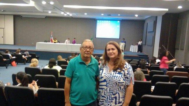 A Secretária Wanderléia acompanhada do Coordenador de Programas Sociais Abinael Souza Rosa, no dia 24 de novembro visitaram as Voluntárias Sociais da Bahia e levaram reivindicações para aquisição de enxovais para recém nascidos e filtros de  água para as populações onde água não é tratada. (Foto: Divulgação)
