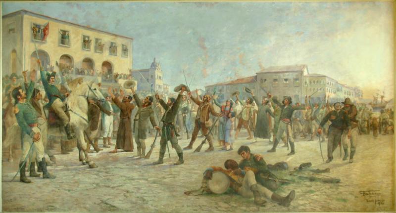 Antônio Parreiras: O Primeiro Passo para a Independência da Bahia, Palácio do Rio Branco, Salvador, Bahia.