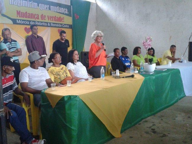 Convenção indicou a empresária Márcia para concorrer à prefeitura de Itagimirim. (Divulgação)