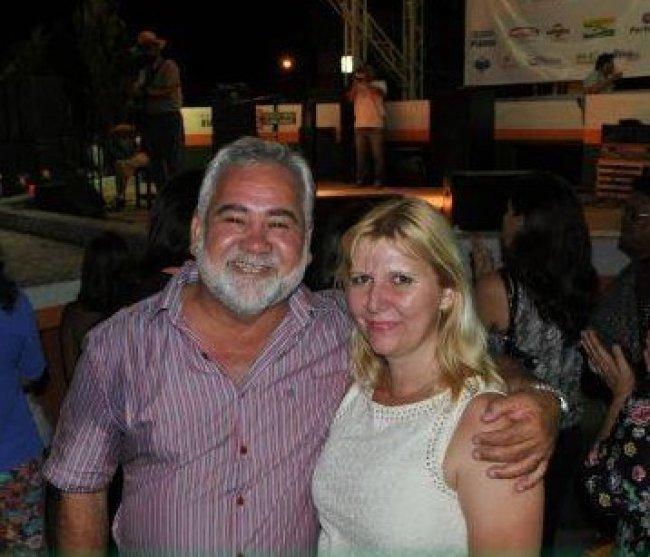 Lucas Leite e sua esposa Alexsandra Moschen, que não resistiu ao acidente (Foto: O xarope)