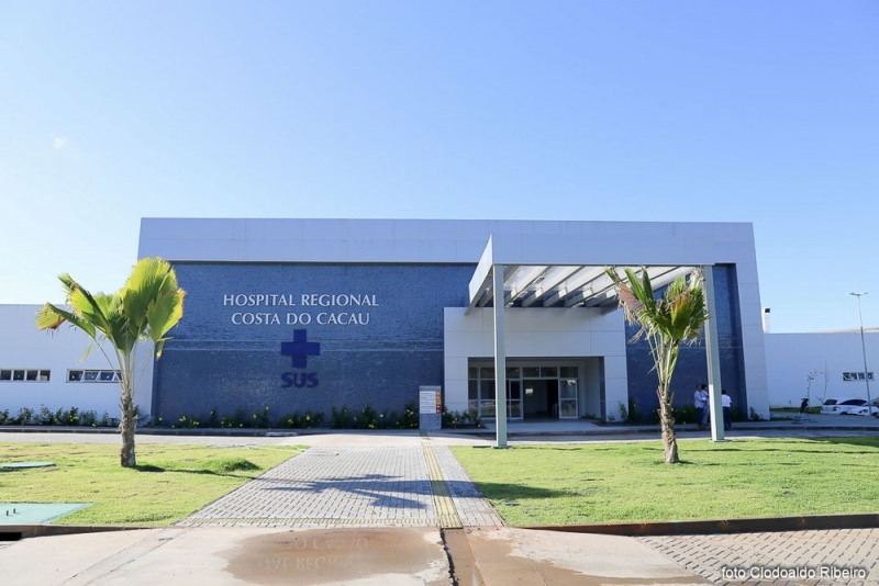 Hospital da Costa do Cacau, onde a jovem foi internada. (Foto: Clodoaldo Ribeiro/ Divulgação)