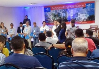 Prefeitos eleitos e reeleitos receberam instruções valiosas durante a palestra (Divulgação)