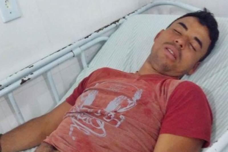 Emerson Freitas foi baleado na perna durante o tumulto. (Foto do site Medeiros Dia Dia)