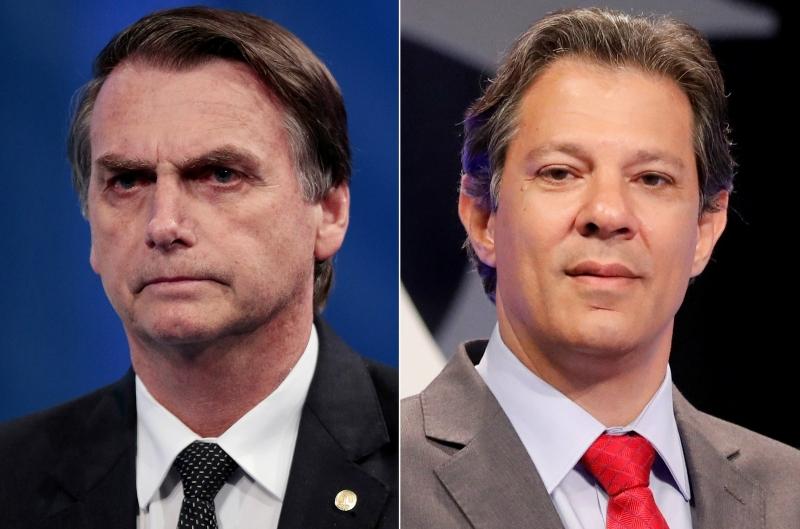Brasileiros escolherão entre Bolsonaro e Haddad no segundo turno. (Reprodução)