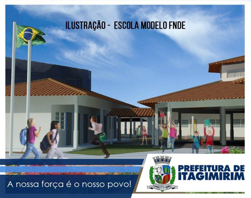 Imagem ilustrativa da Escola Modelo do FNDE (Divulgação)