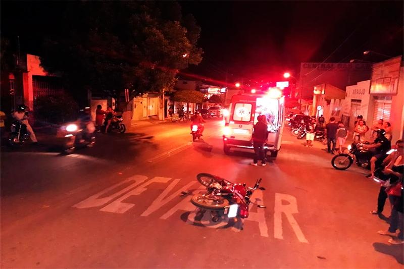 Homem atropelou um motociclista durante a fuga. (Imagem: 97News)