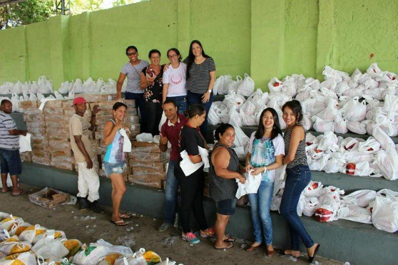 Mais de 2000 cestas básicas foram distribuídas em Itagimirim e União Baiana (ASCOM)