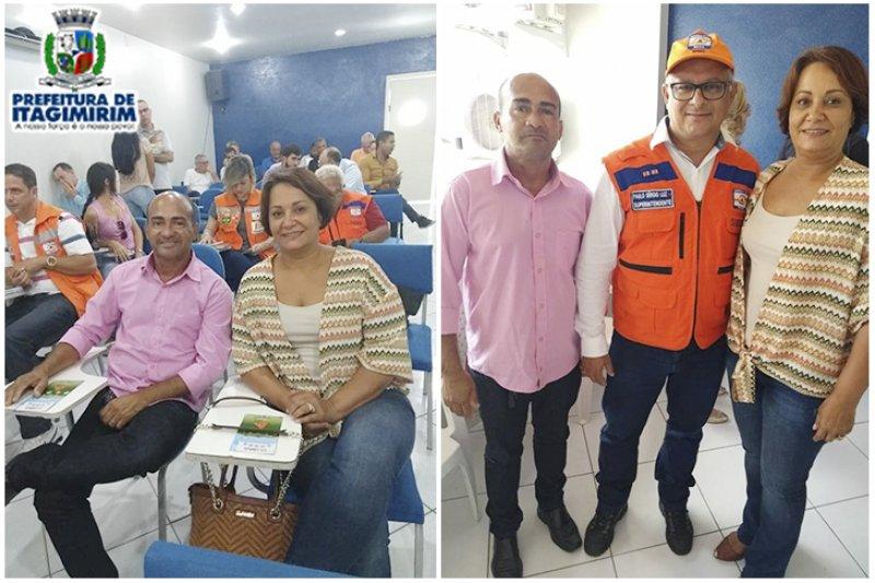 Prefeita Devanir Brillantino participa do evento juntamente com o Secretário de obras, o Srº Gumercindo Freire (ASCOM)