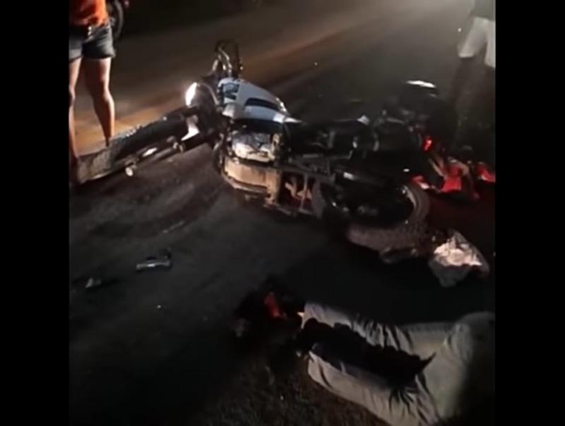Populares registraram imagens logo após o acidente.