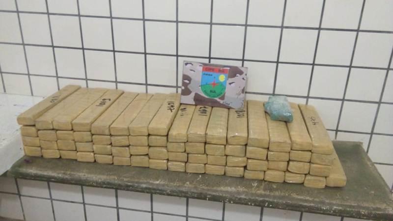 Polícia apreendeu mais de 72 kg de entorpecentes durante a operação. (PM/Divulgação)