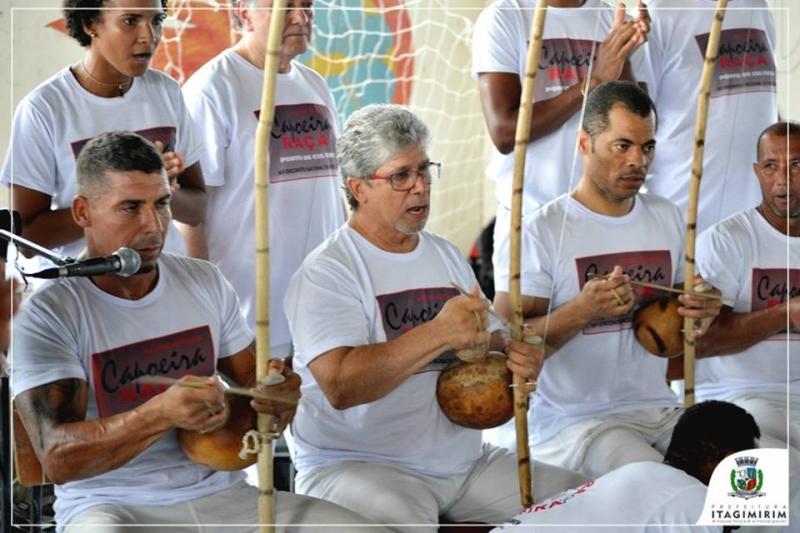 Capoeiristas de várias localidades participaram do evento. (Ascom-Itagimirim)