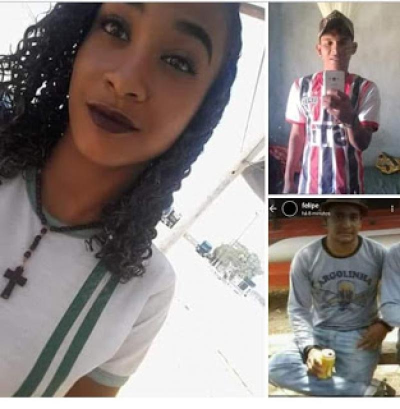 Imagem das três vítimas. (Reprodução/Facebook)