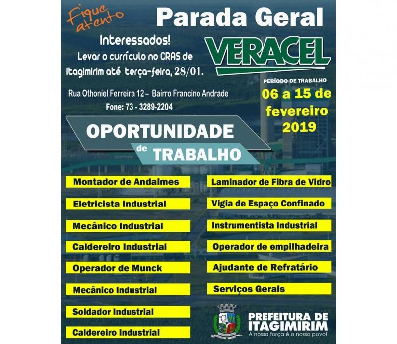 Neste ano, a Parada Geral está programada para o período de 06 a 15 de fevereiro. (Ascom-Itagimirim)