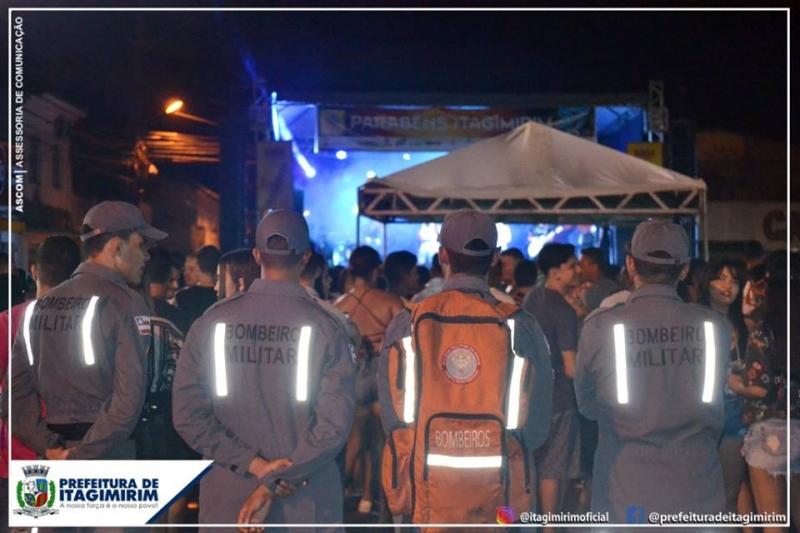 Polícia Militar, Polícia Civil e Corpo de Bombeiros tiveram efetivos durante o evento. (Ascom-Itagimirim)