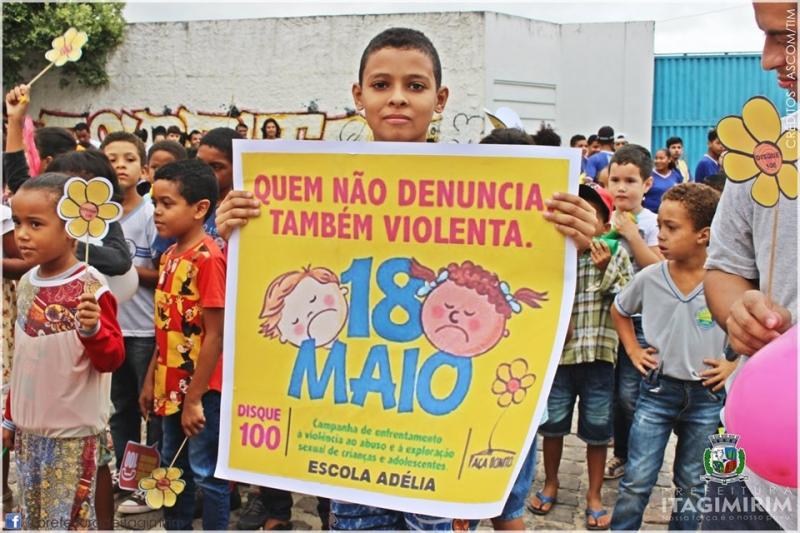 O Dia Nacional de Combate ao Abuso e à Exploração Sexual Infantil, que é celebrado anualmente no dia 18 de Maio. (Ascom-PMI)