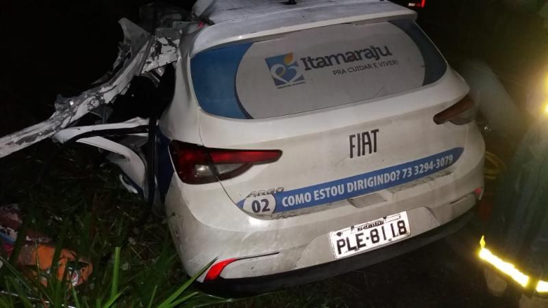 Três mortos em desastre no extremo sul da Bahia. (Reprodução)