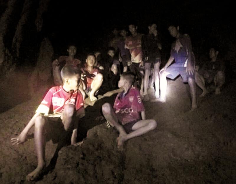 Grupo foi localizado por mergulhadores apenas no dia 2 de julho. (Reprodução/Internet)