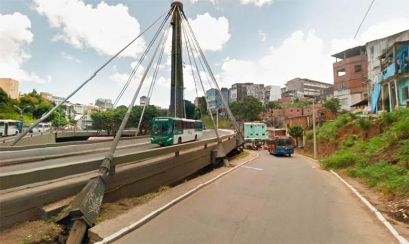 Acidente foi registrado na saída da Estação da Lapa na capital baiana. (Imagem: Google Maps)