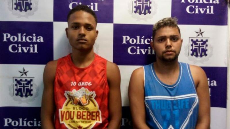 Gleidson e Lucas foram presos na ação. (Foto: Divulgação/ SSP-BA)