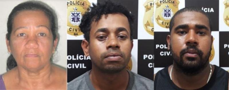 Três pessoas foram presas. (SSP-BA)