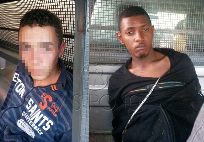 Dupla foi presa pela polícia militar após assaltar profissional em Itagimirim. (Foto: Polícia Militar)