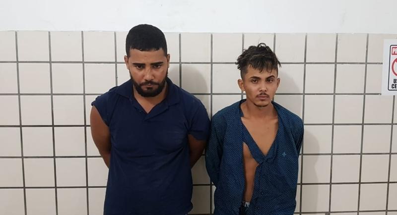 Dupla foi presa em Teixeira após praticar assalto em Itamaraju. (Reprodução/SulBahia News)