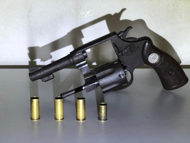 Arma foi apreendida pelos PMs durante a operação. (Divulgação/PM-BA)