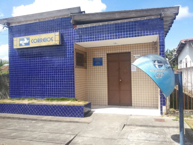 Agência dos Correios em Itagimirim amanheceu fechada na manhã desta segunda-feira (11). (Foto: Rastro101)
