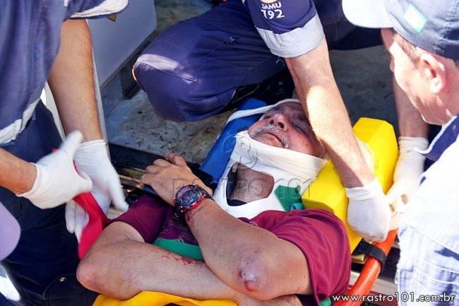Pai da menina que morreu também ficou ferido. Ele disse que ainda alertou para que todos usassem o cinto de segurança. (Foto: Rastro101)