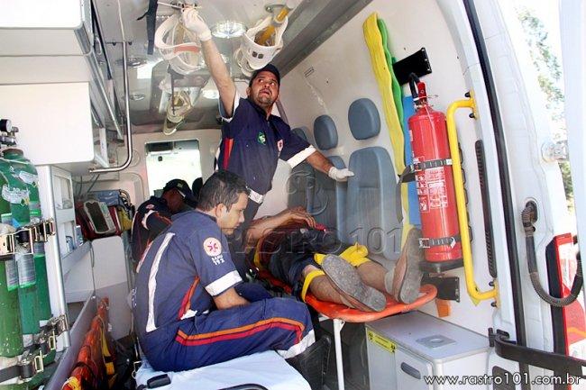Vítimas foram atendidas e encaminhadas para o Hospital Regional em Eunápolis. (Foto: Rastro101)