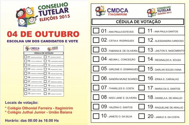 Eleições serão neste dia 4 de outubro. (Divulgação)
