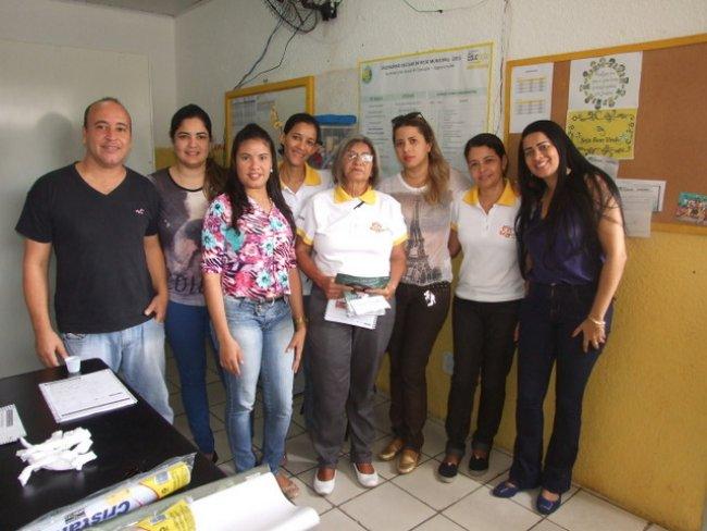 Equipe da Vigilância Epidemiológica da Secretaria Municipal de Saúde de Itagimirim. (Foto: ASCOM)