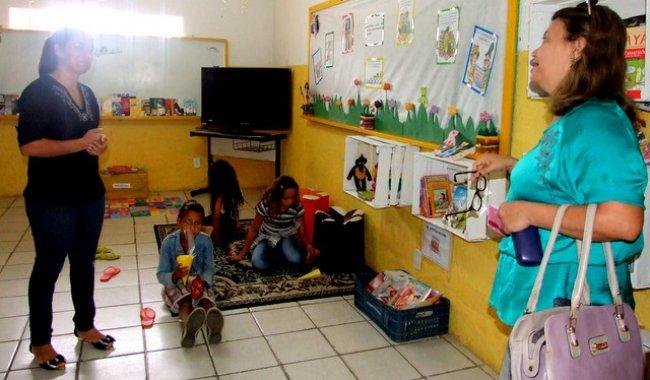 Crianças aprendem brincando. (Foto: ASCOM)