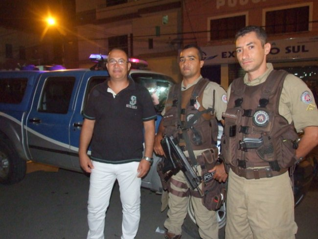 Polícia Militar de Itagimirim recebe reforço da polícia de toda a região (Foto: ASCOM)
